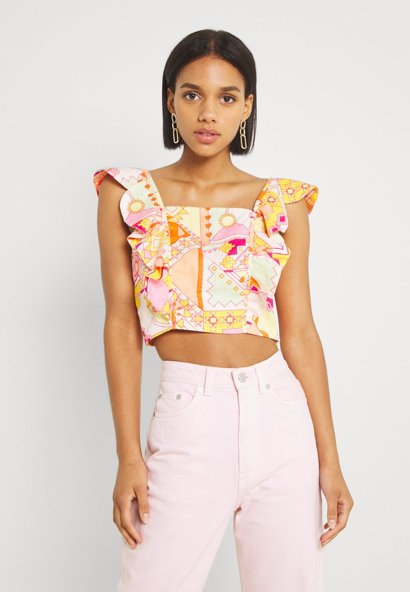 Never Fully Dressed - LOLA CROP - Blouse - multicolor