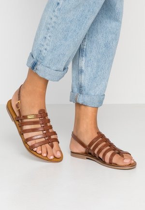 HERILO - T-bar sandals - tan