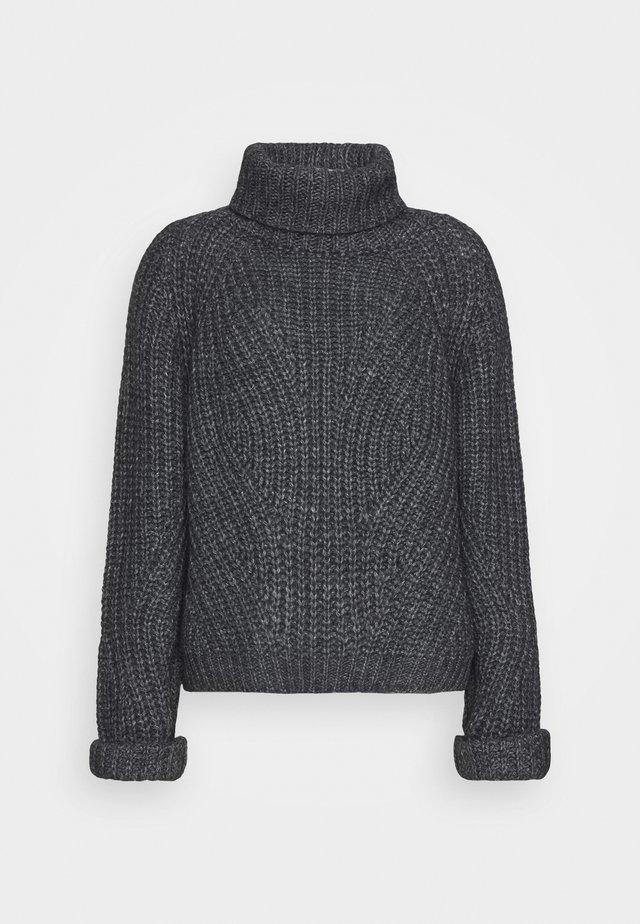 HENNY - Stickad tröja - dark grey