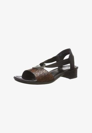 Sandals - braun kombi