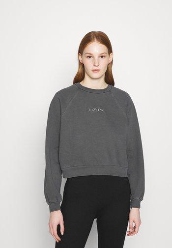 VINTAGE RAGLAN CREW - Sweatshirt - mottled dark grey