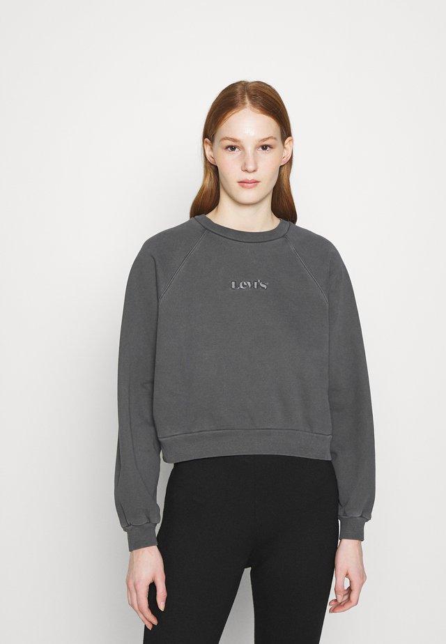 VINTAGE CREW - Sweatshirt - mottled dark grey