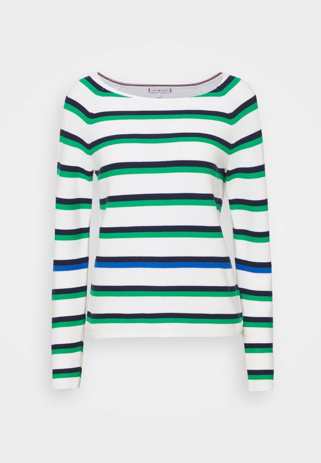 STRIPE OPEN - Sweter - ombre navy white