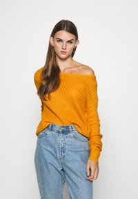Missguided - OPHELITA OFF SHOULDER JUMPER - Trui - mustard - 0