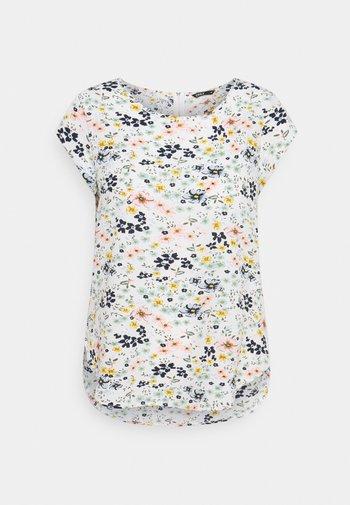 ONLVIC - T-shirt print - cloud dancer/kia ditsy