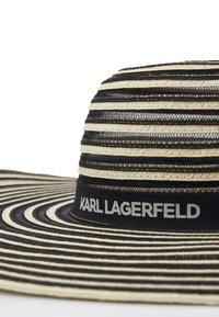 KARL LAGERFELD - ESSENTIAL STRIPE FEDORA - Hattu - black - 3