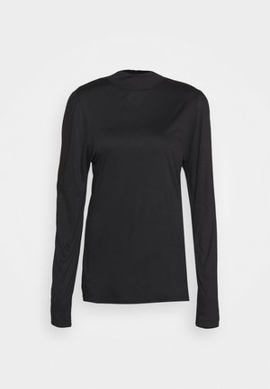 VIOLA TURTLENECK - Long sleeved top - pitch black