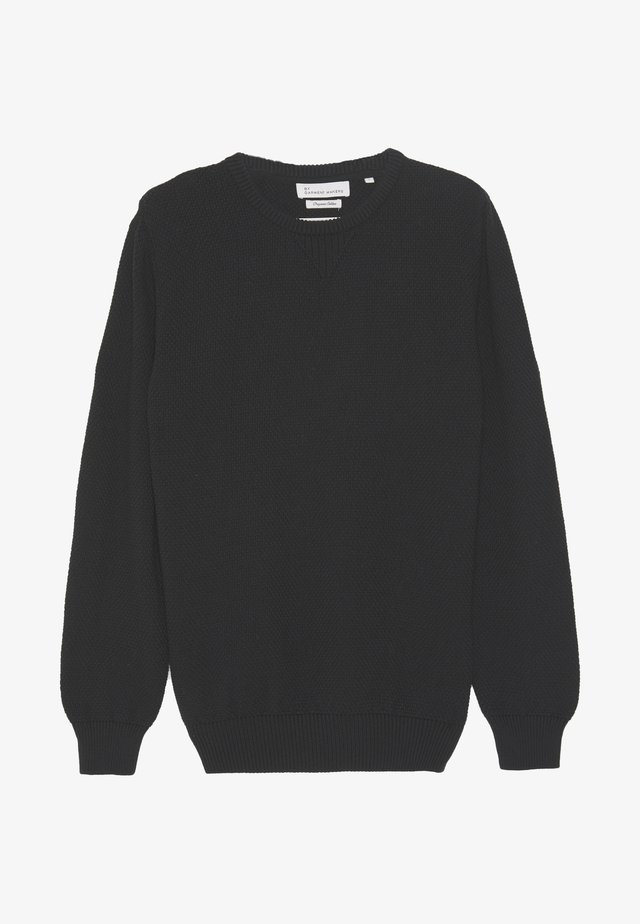 WAFFLE - Pullover - jet black