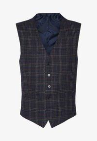 BOLD CHECK WAISTCOAT - Suit waistcoat - plum