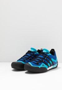 adidas Performance - TERREX SWIFT SOLO - Climbing shoes - royal blue/core black/signal cyan - 2