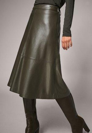 A-line skirt - pesto