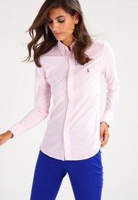 Polo Ralph Lauren - HEIDI - Button-down blouse - carmel pink/white - 0