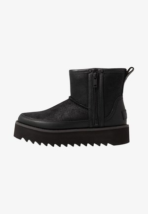 CLASSIC REBEL BIKER MINI - Bottines à plateau - black