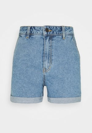 OBJPENNY FOLD - Shorts di jeans - light blue denim