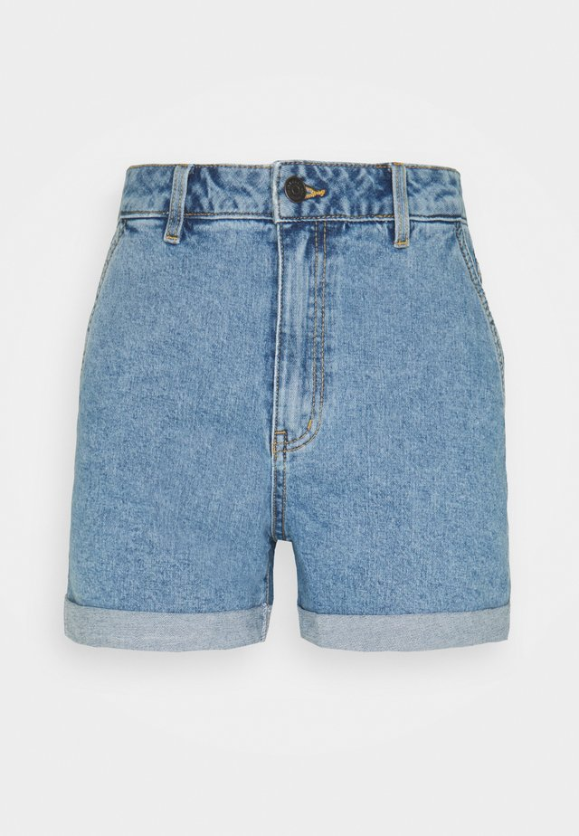 OBJPENNY FOLD - Shorts di jeans - light blue denim