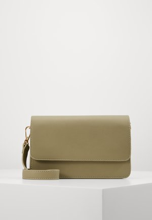 PCCORA CROSS BODY - Across body bag - olive branch/gold