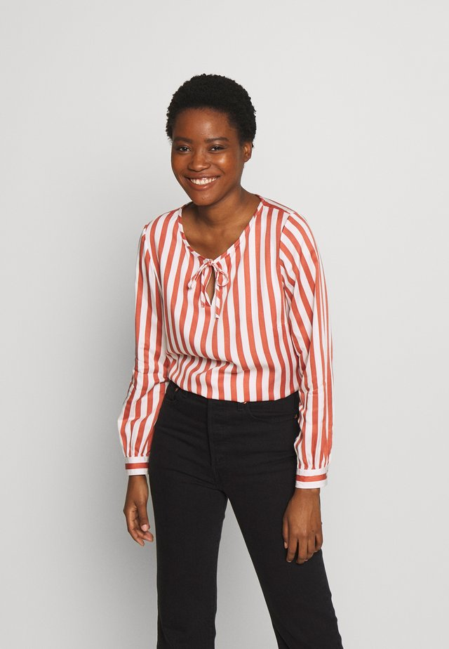 STRIPED BLOUSE - Blouse - stripe clay