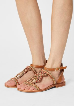 IMONA - Sandals - camel/multi