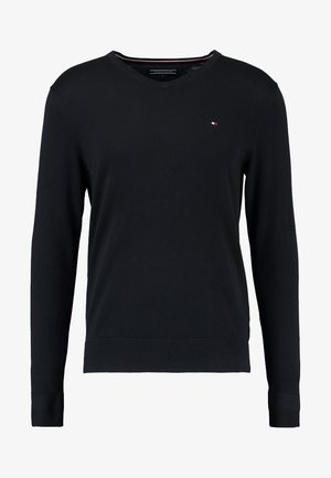 V-NECK  - Pullover - flag black