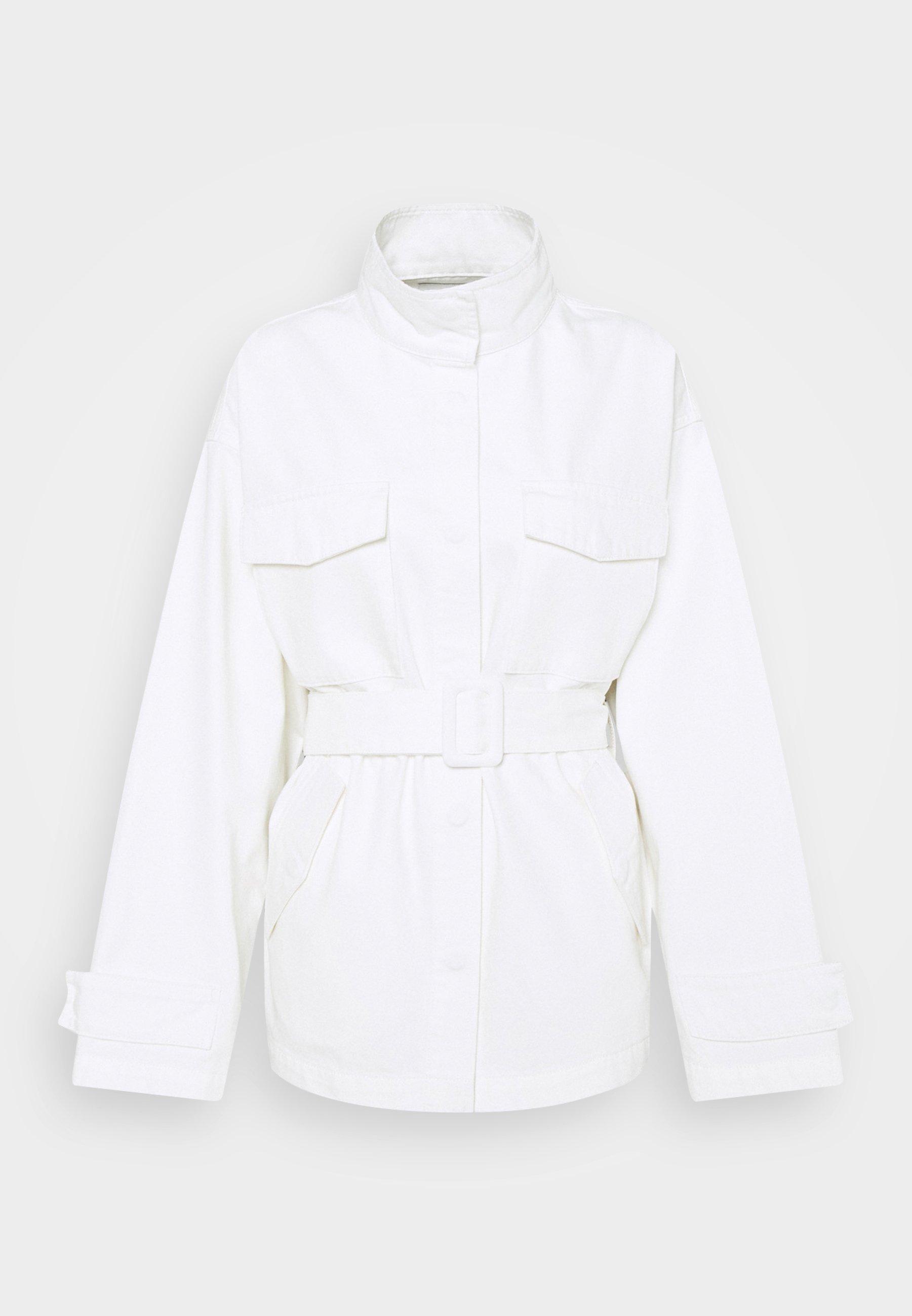 Women BELTED OVERSIZED JACKET - Denim jacket