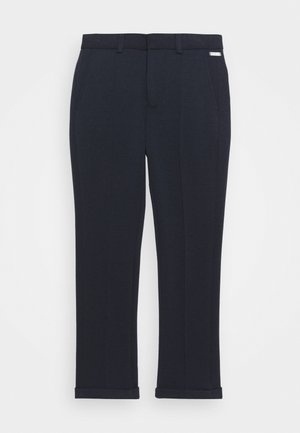 PIN TUCK - Trousers - navy