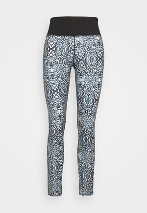 ABSTRACT PRINT LEGGINGS CORE - Punčochy - blue