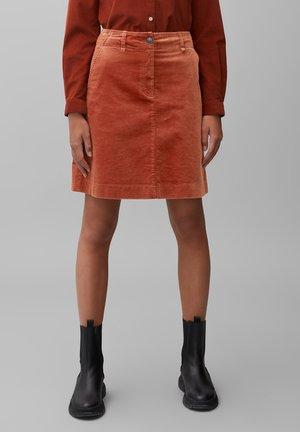 A-line skirt - burnt brick