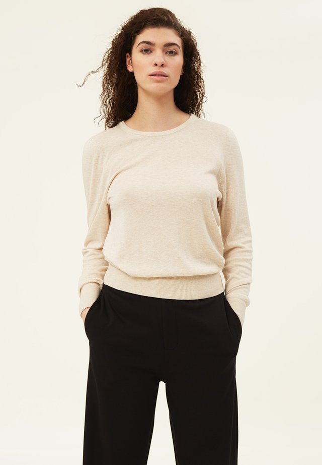 YVETTE COTTON/BAMBOO - Neule - offwhite