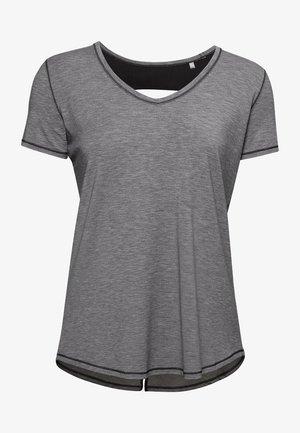 RECOVERY SLEEPWEAR  - Print T-shirt - black fade heather