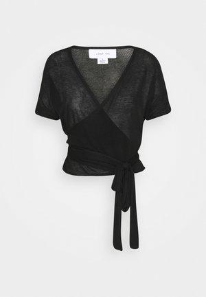 FINE WRAP - Vest - black