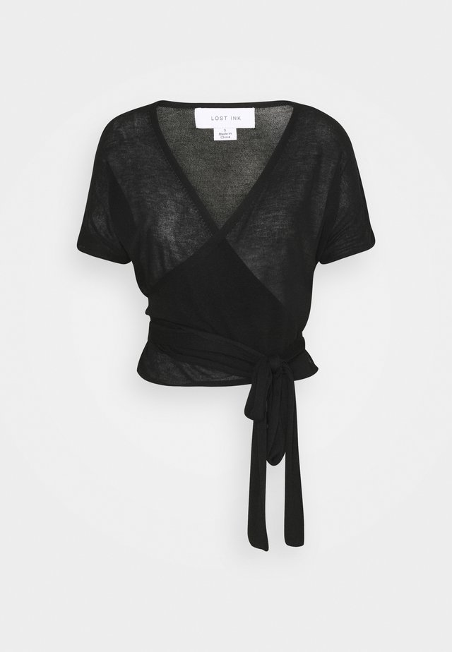 FINE WRAP - Cardigan - black