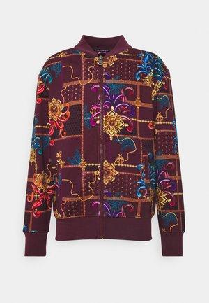 UNISEX - Zip-up sweatshirt - bordeaux