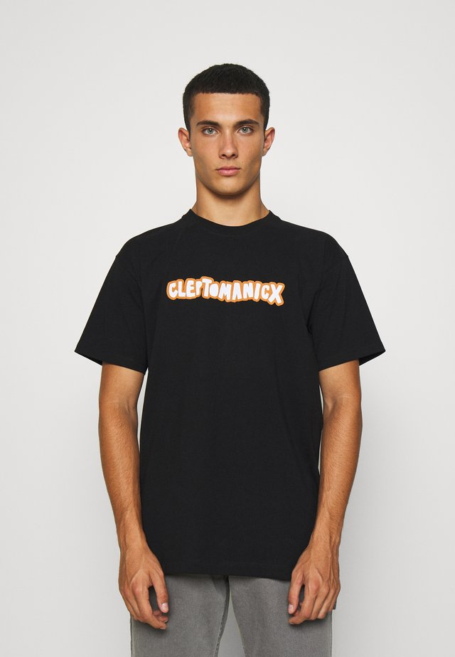 CLEPTO OLDSCHOOL - Print T-shirt - black