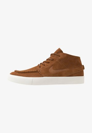 ZOOM JANOSKI MID CRAFTED - Zapatillas altas - light british tan/black/pale ivory