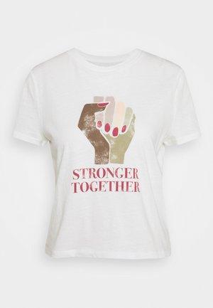SHRUNKEN TEE - Print T-shirt - new off white