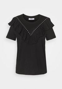 ONLNORTH STUD TEE - Print T-shirt - black