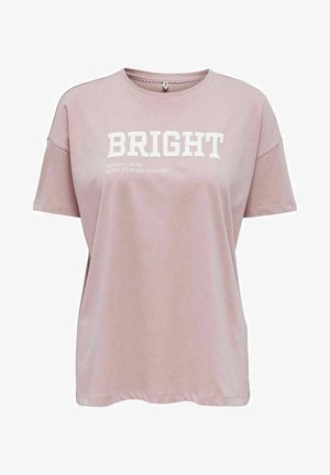 STATEMENT - T-shirt z nadrukiem - dawn pink