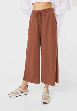 Tracksuit bottoms - camel