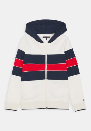 COLORBLOCK HOODIE - Mikina na zip - offwhite