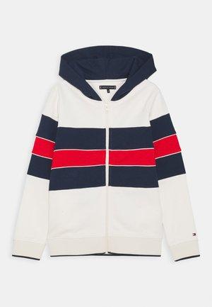 COLORBLOCK HOODIE - Zip-up hoodie - offwhite