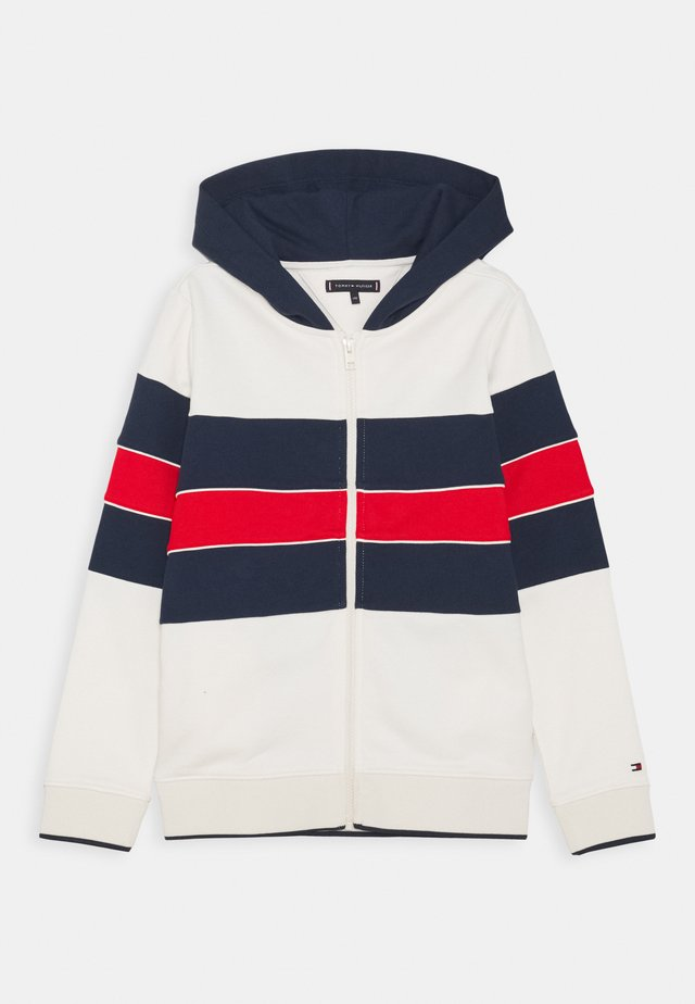 COLORBLOCK HOODIE - veste en sweat zippée - offwhite