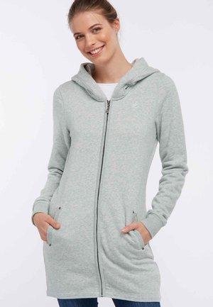 Zip-up hoodie - mint melange