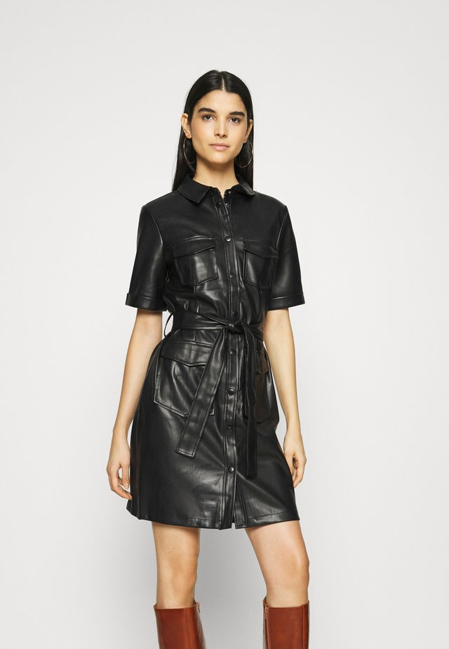 VITRIA COATED DRESS - Vestito estivo - black