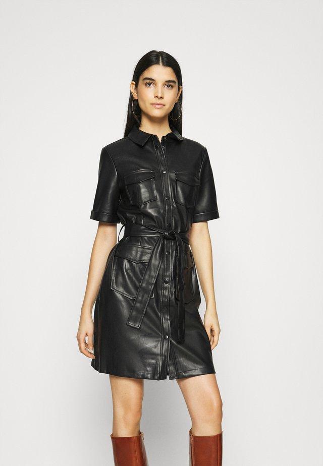 VITRIA COATED DRESS - Day dress - black