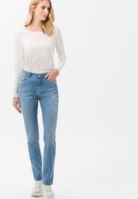 BRAX - STYLE CAROLA - Slim fit jeans - light blue - 1