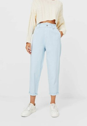 TWILL-BAGGY - Trousers - light blue