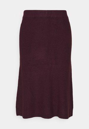 BYMILO SKIRT - A-line skirt - winetasting melange