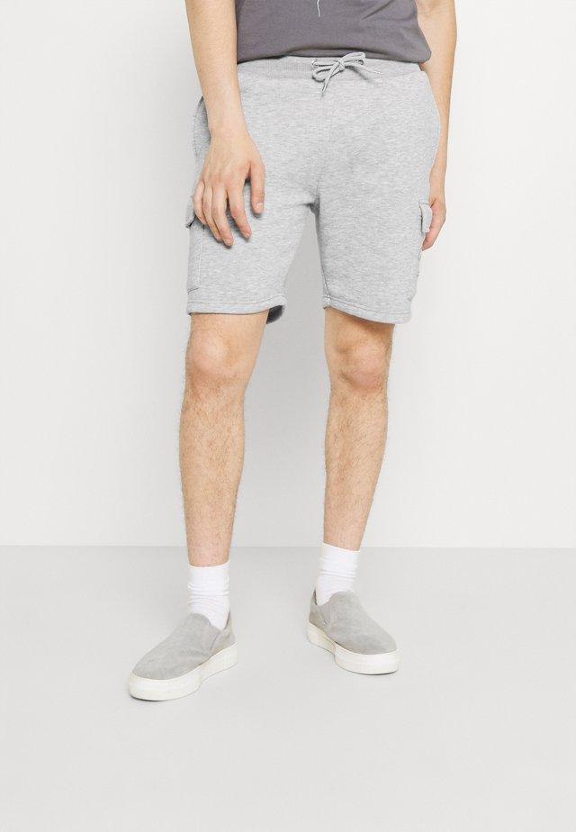 CO ORDINATES  - Cargo trousers - light marl
