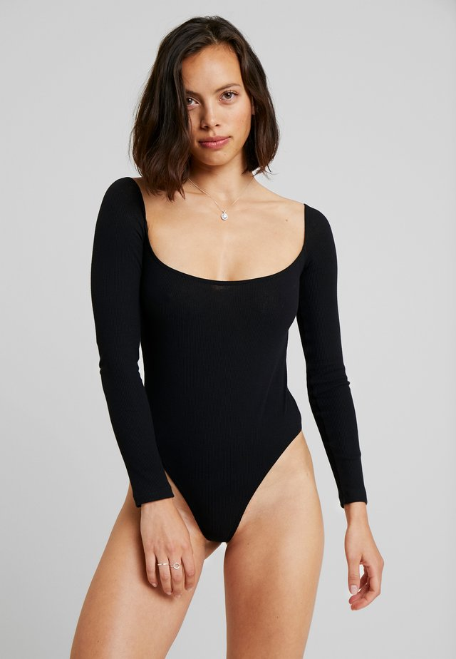 BLANCHE BODYSUIT - Body - black caviar