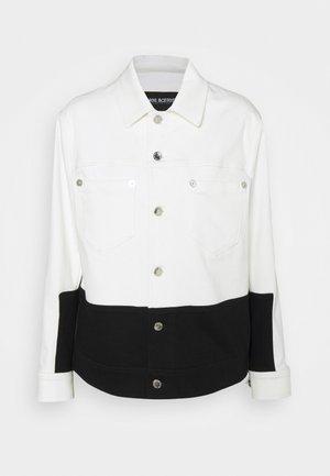 SKINNY JACKET - Denim jacket - off white/black